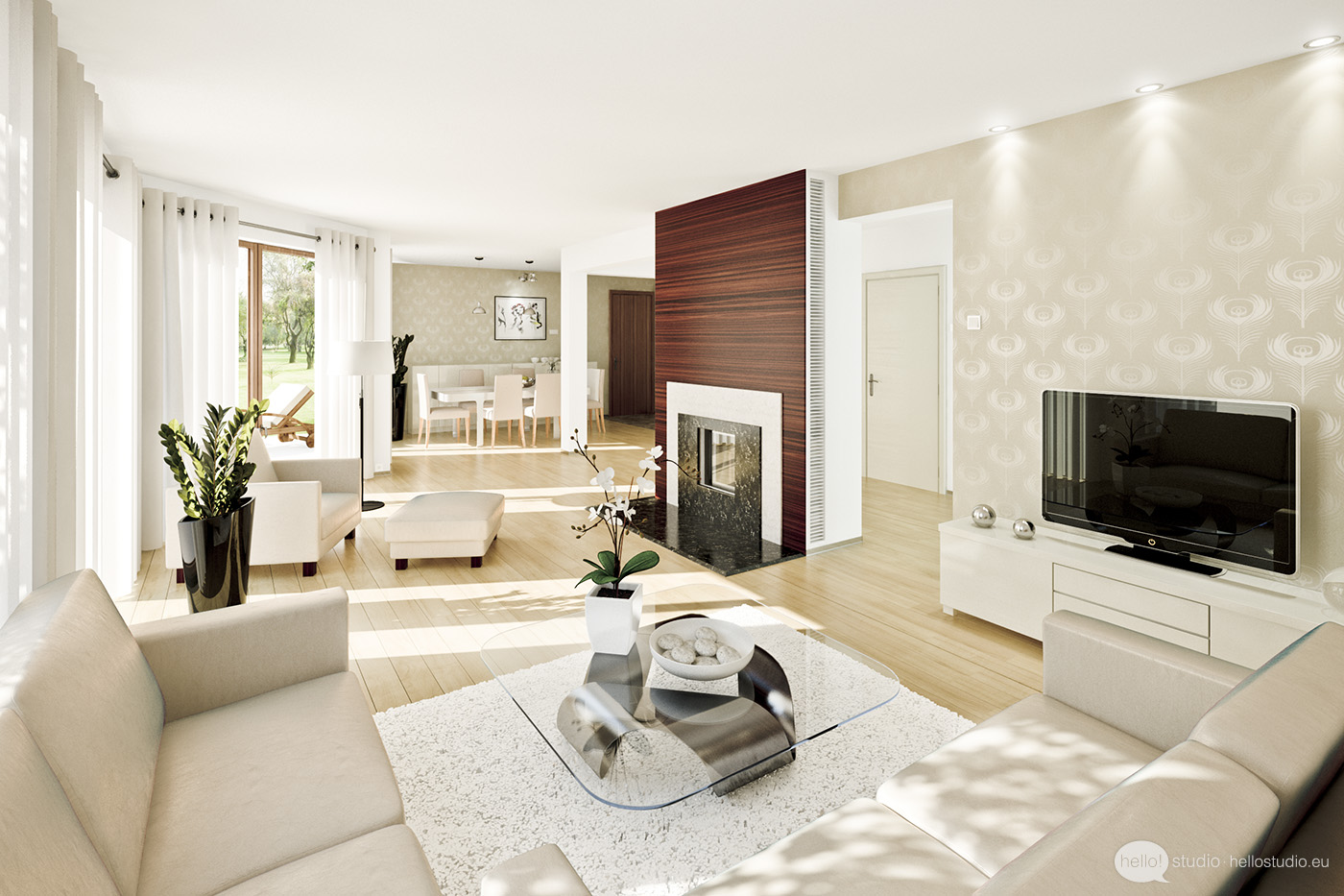 Smart Inspire Luxurious Living Room For Multi Familly (Image 8 of 8)