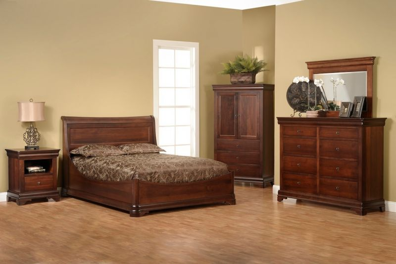 Solid Wood Bedroom Set Amish Bedroom Furniture Sets (Image 9 Of 10)
