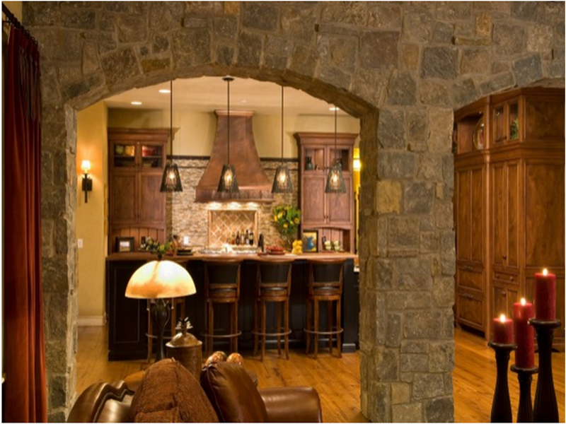 Southern Decorating Ideas With Stone Wall (View 1 of 10)
