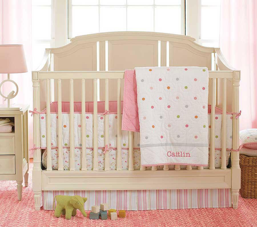 Interior Design Elegant Pink White Gray Baby Girl Room: Cute Baby Nursery Furniture Sets Rooms #1982