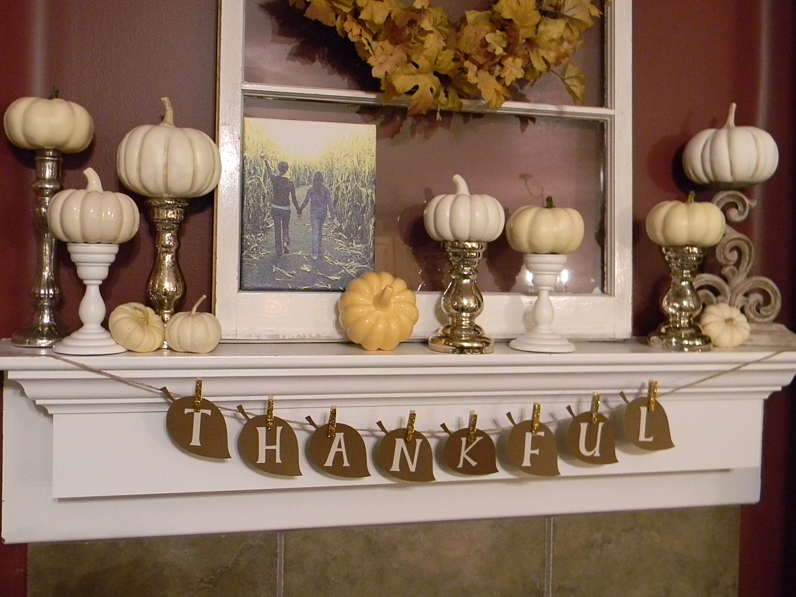 Thankful Banner For Thankgiving Decoration (Image 5 of 10)