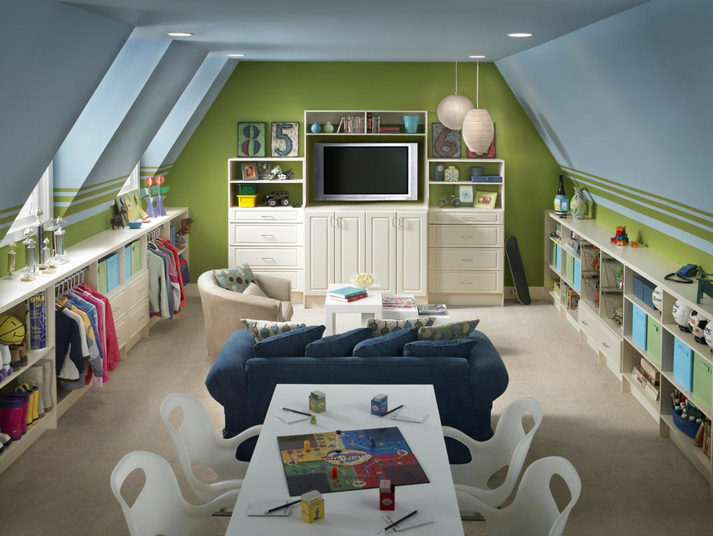 Transform Attic To Beautiful Living Room (Image 10 of 10)