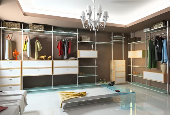 Well Organized Walk in Woman Closets
