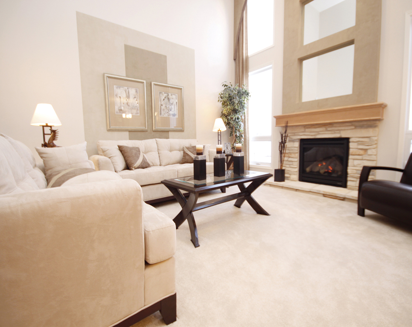 White Berber Carpet In Living Room Flooring (Image 10 of 10)