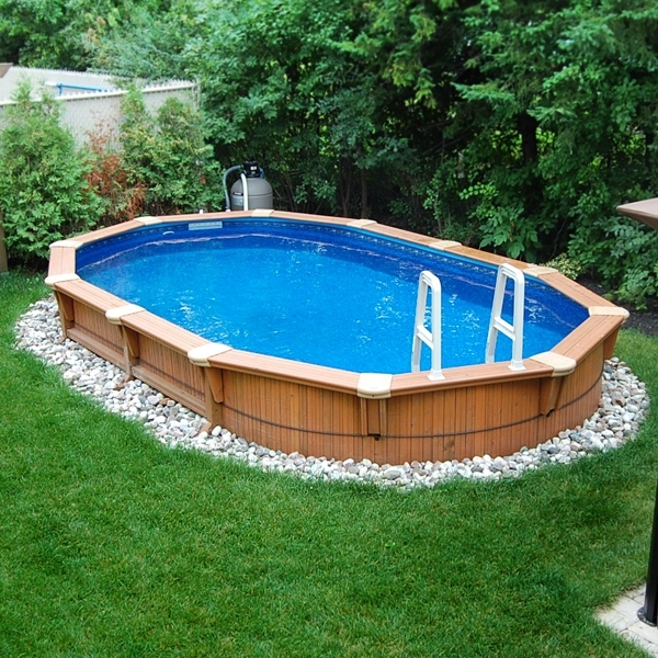 Semi In Ground Pool And Deck Ideas (Image 9 of 10)