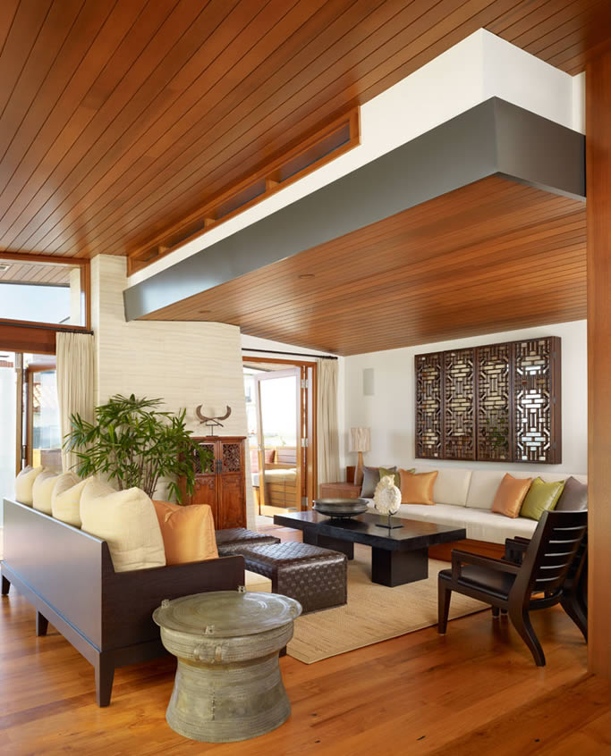 Featured Image of 2015 Trendy Wood Ceiling For Living Room