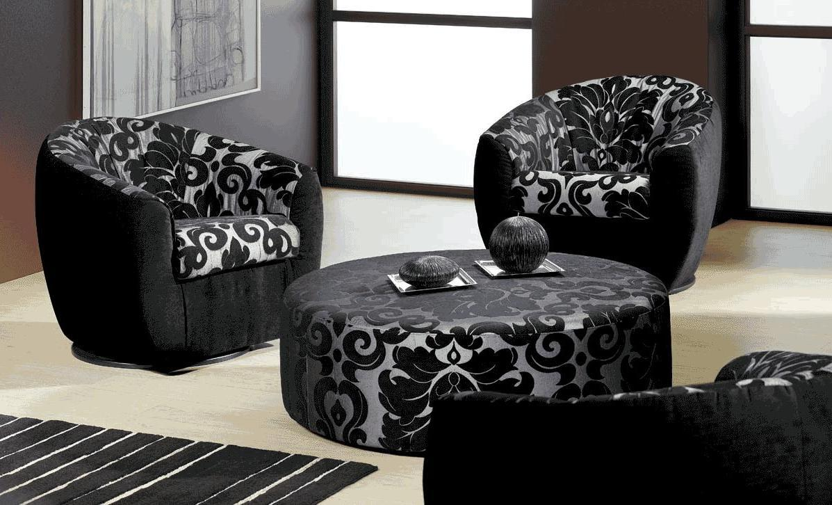 Black White Sofa For Apartment Living Room (Image 4 of 9)