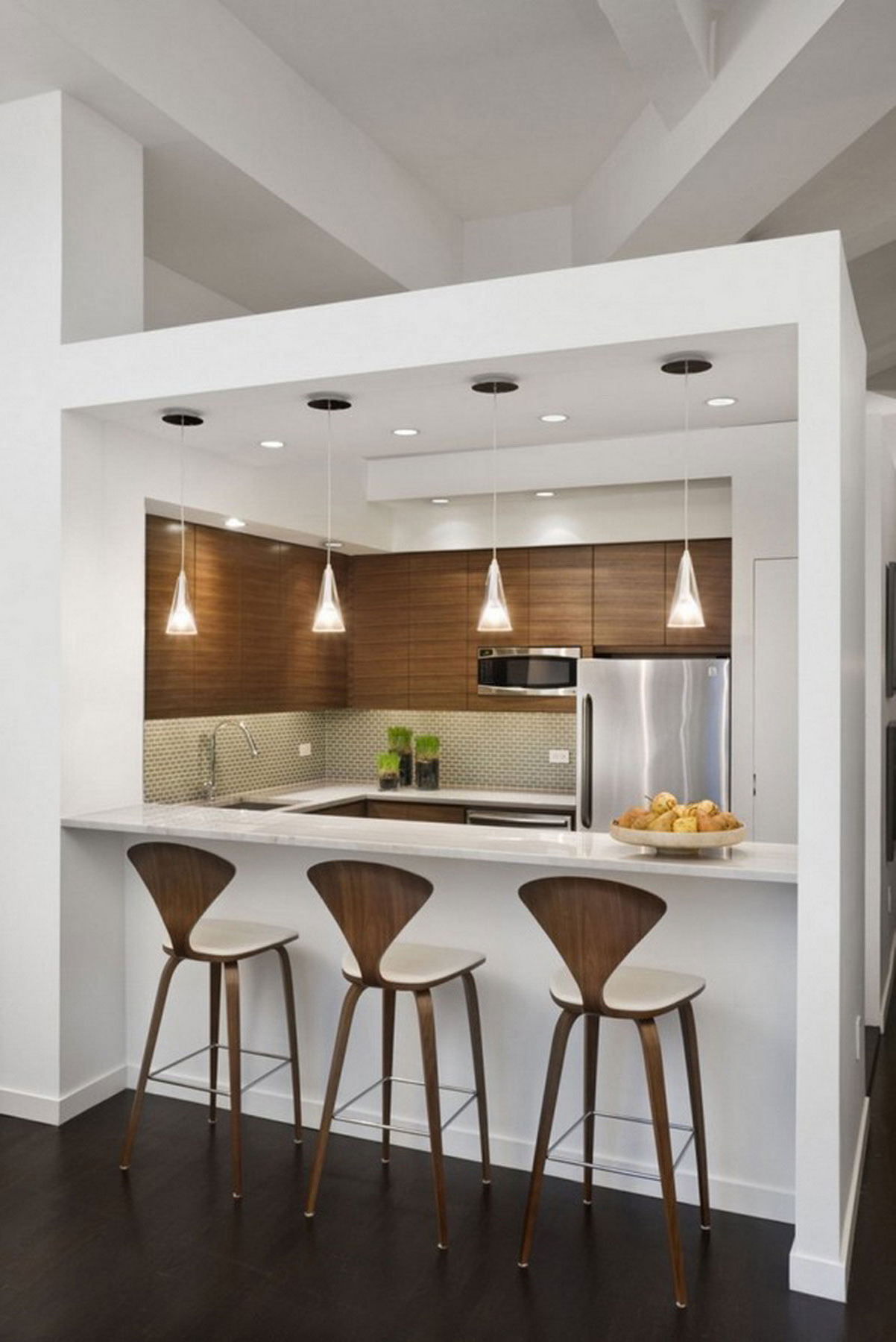 Contemporary Kitchen Bar Interior (Image 7 of 21)