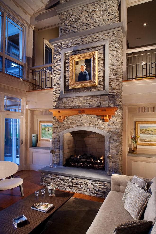Decorative Stone Fireplace (View 6 of 12)