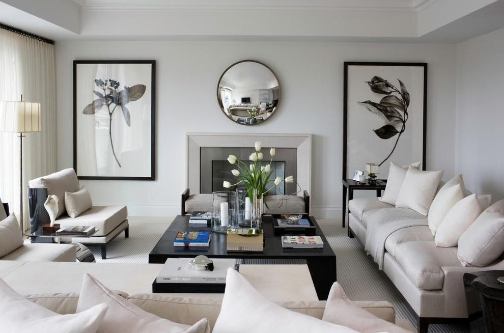 Elegant Black And White Contemporary Apartment (Image 6 of 9)