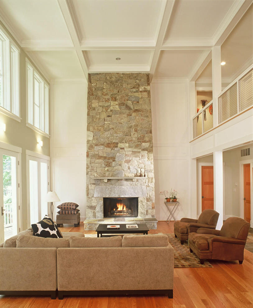 Gorgeous Stone Fireplace Design (View 7 of 12)