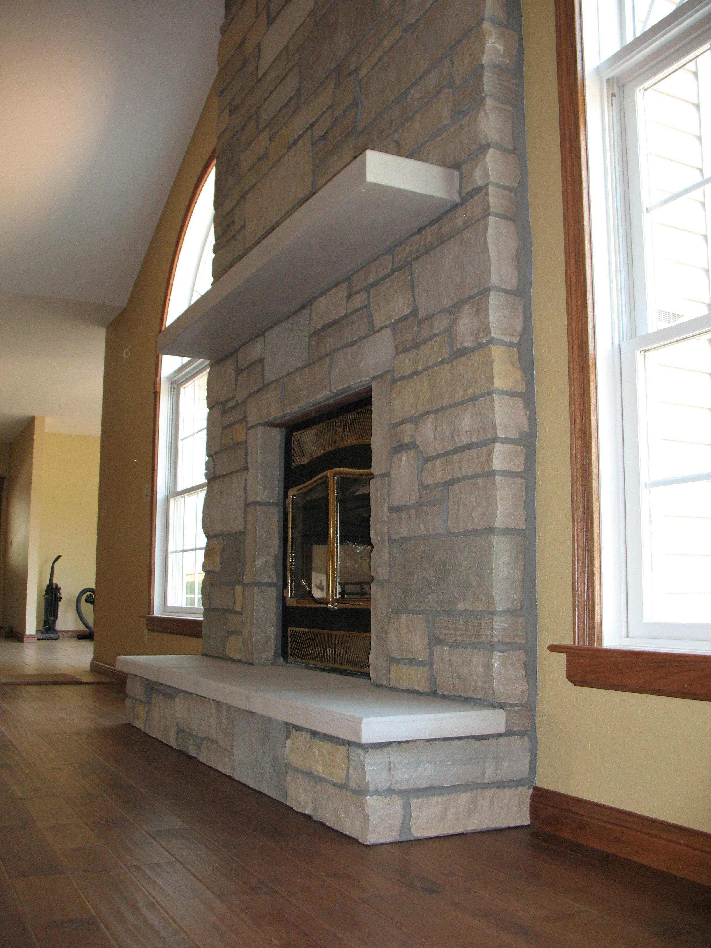 Stone Fireplace Renovation (Image 10 of 12)