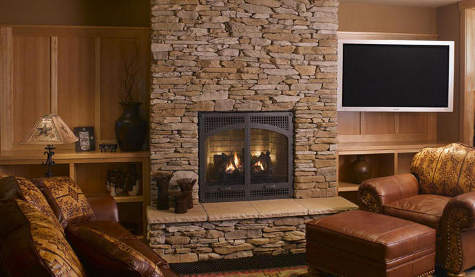 Stone Fireplace For Classic Nuance (Image 8 of 12)