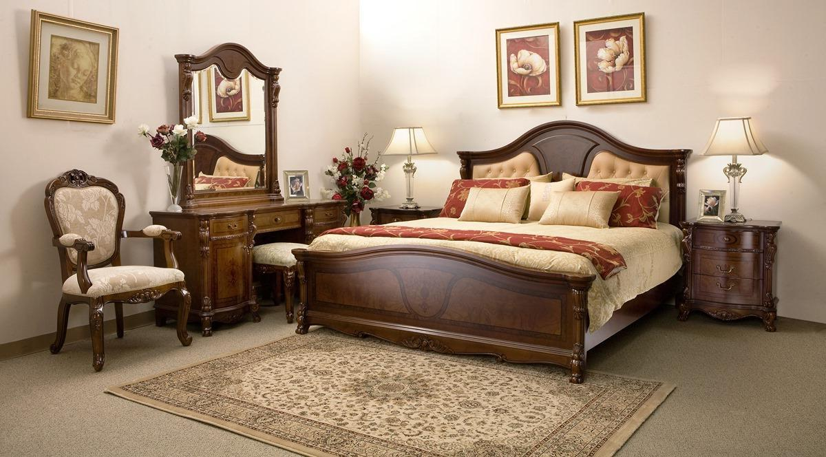 Traditional Bedroom Full Set Wooden Furniture (Image 4 of 9)