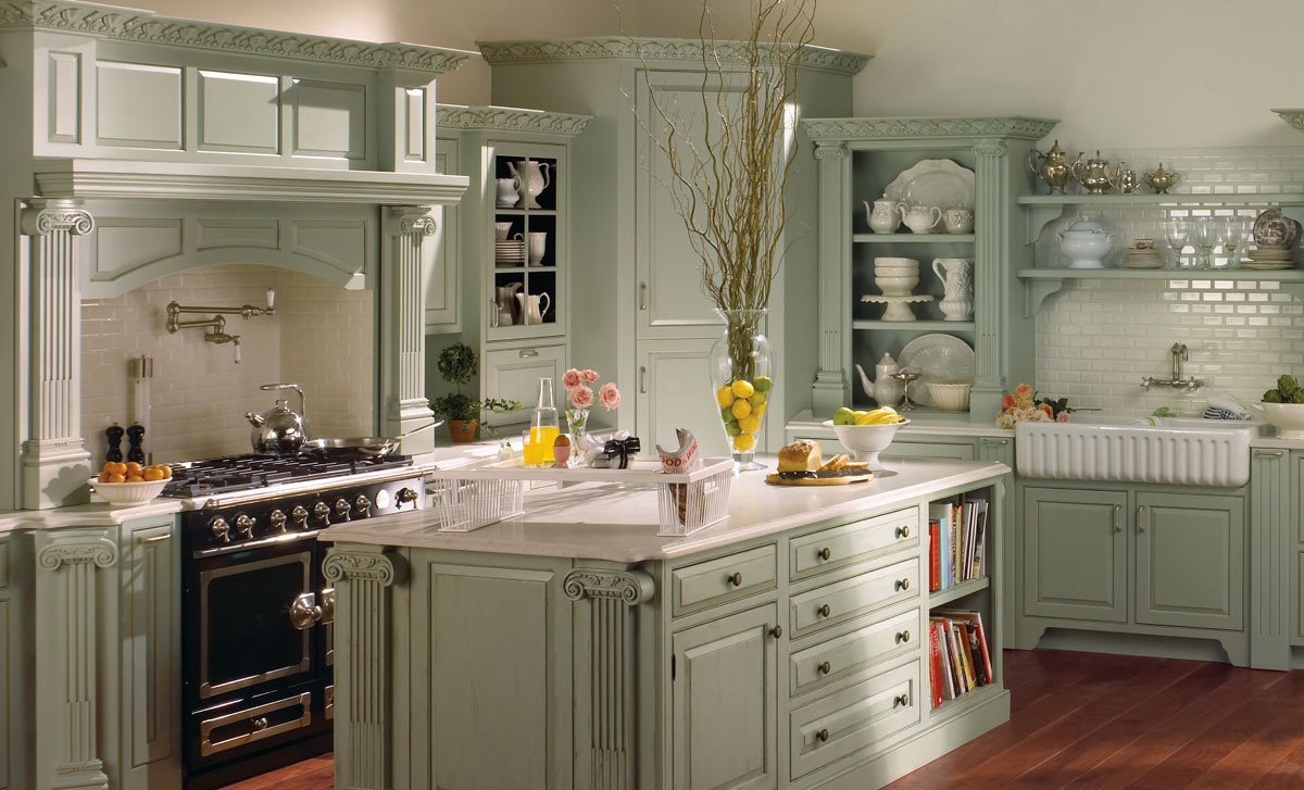 Featured Image of Country Kitchen Cabinet Painting With Neutral Color