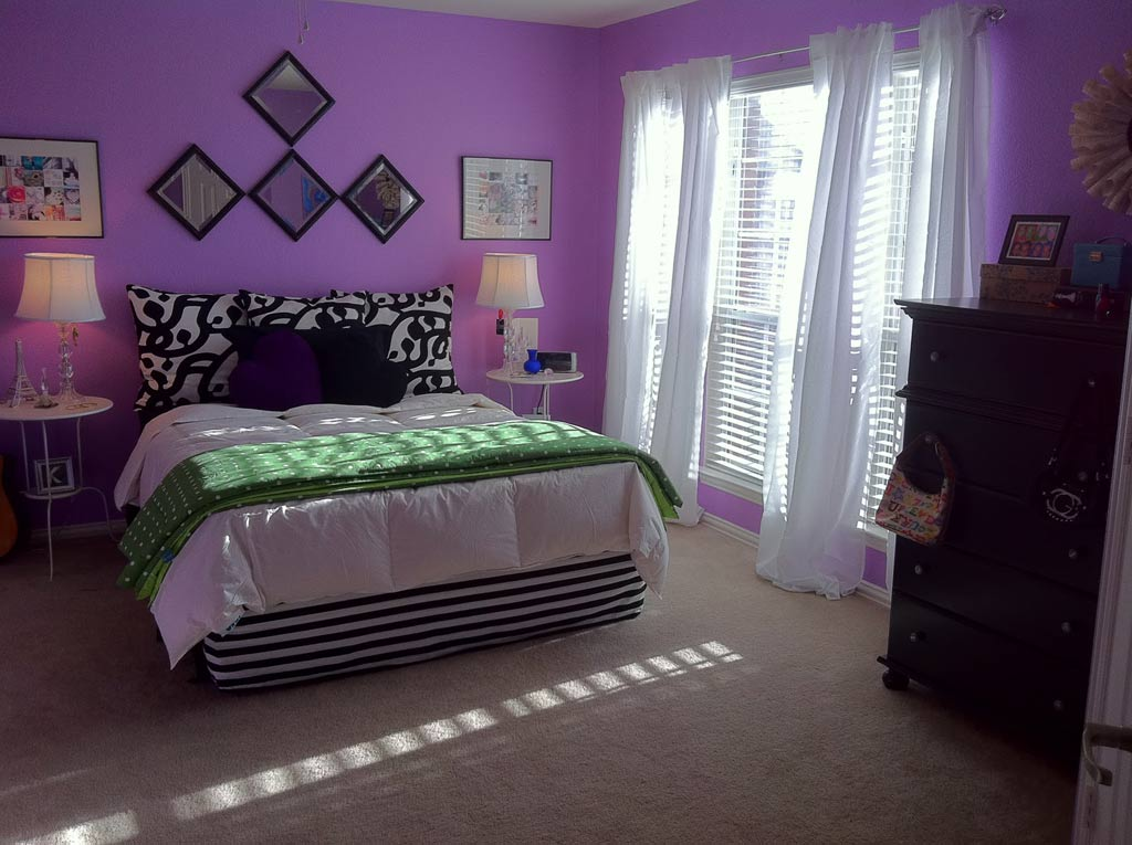 Diy Fabric Bedroom Decor With Purple Wall Paint 2957 House Decoration Ideas