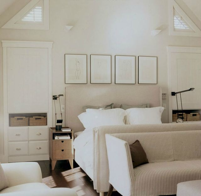 Featured Image of Minimalist Fabric Bedroom In White Color