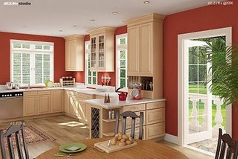 High Quality Featured Image Of Popular American Kitchen Interior Design