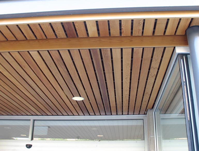 Featured Image of Simple Exterior Wooden Ceiling