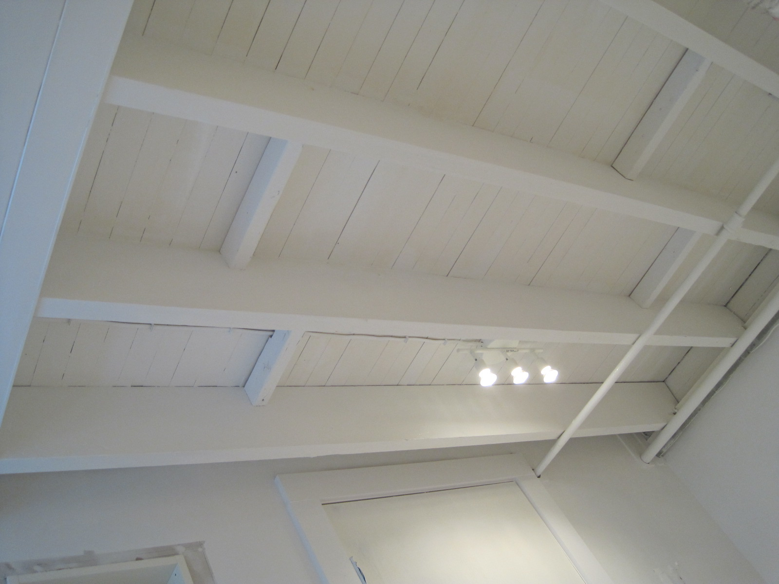 Featured Image of White Traditional Basement Ceiling