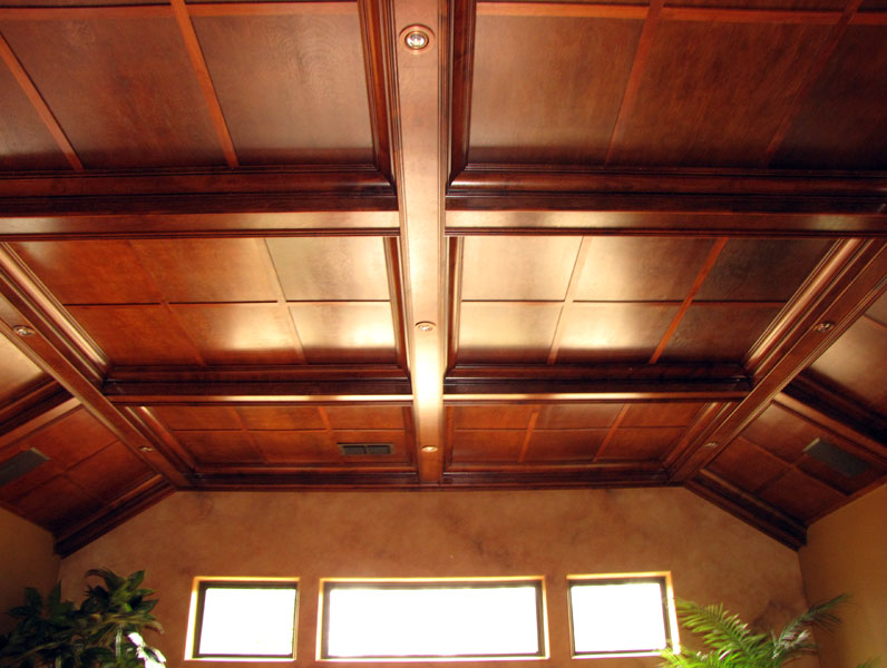 Featured Image of Wood Grid Ceiling Design