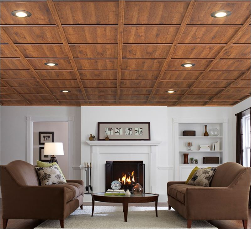 Featured Image of Wood Grid Cover For Living Room Ceiling