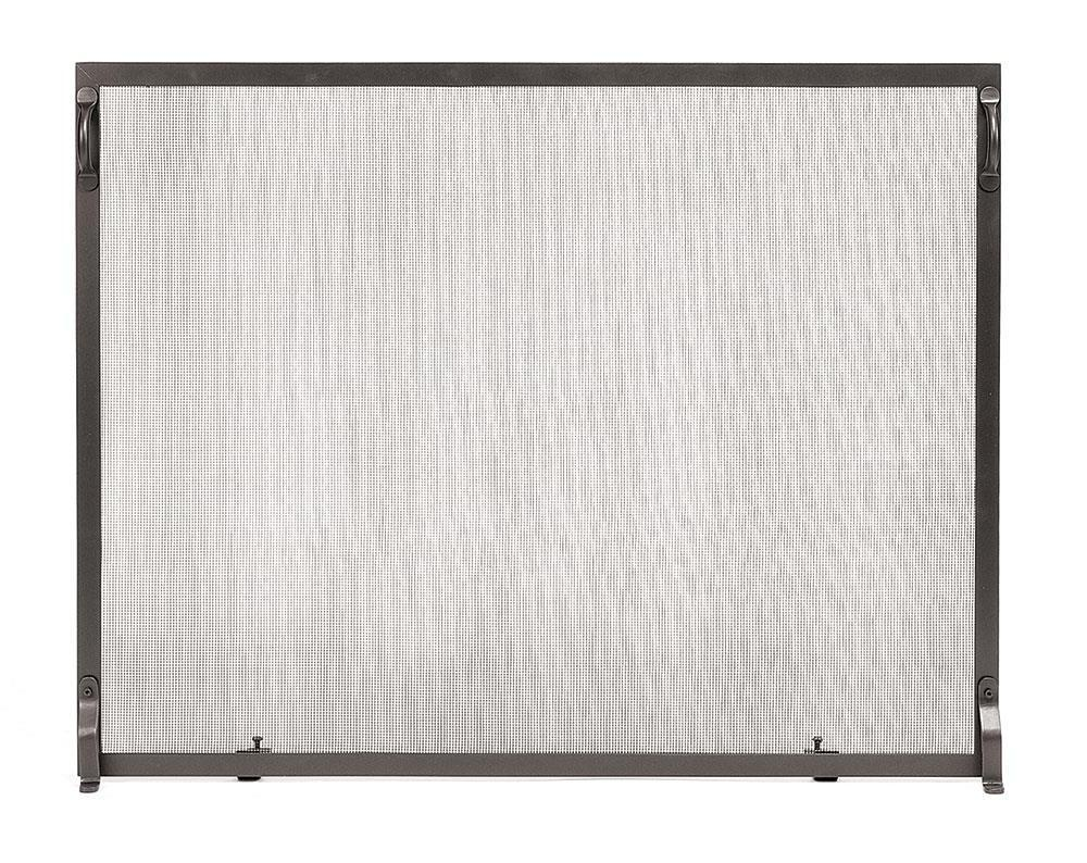 Flat Spark Guard Fireplace Screen (Image 7 of 13)