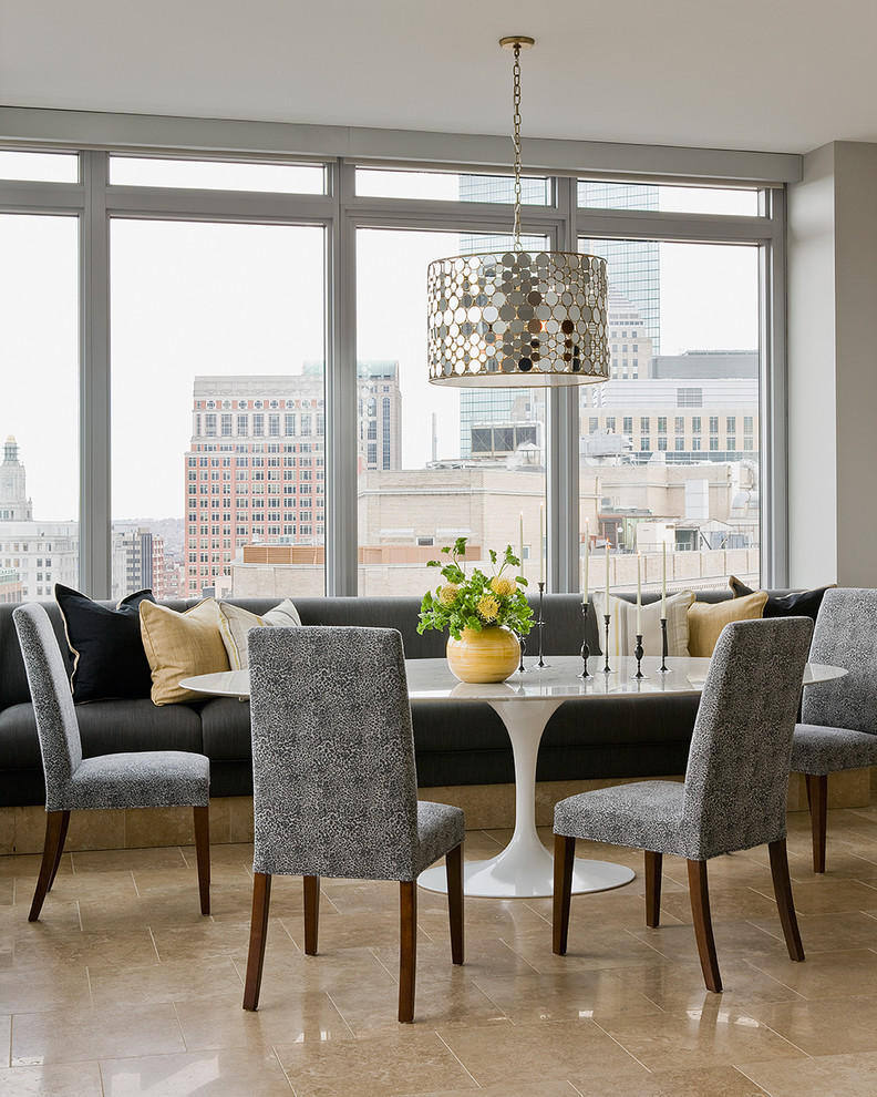 Parsons Chairs For Modern Dining Room Apartment (Image 5 of 8)