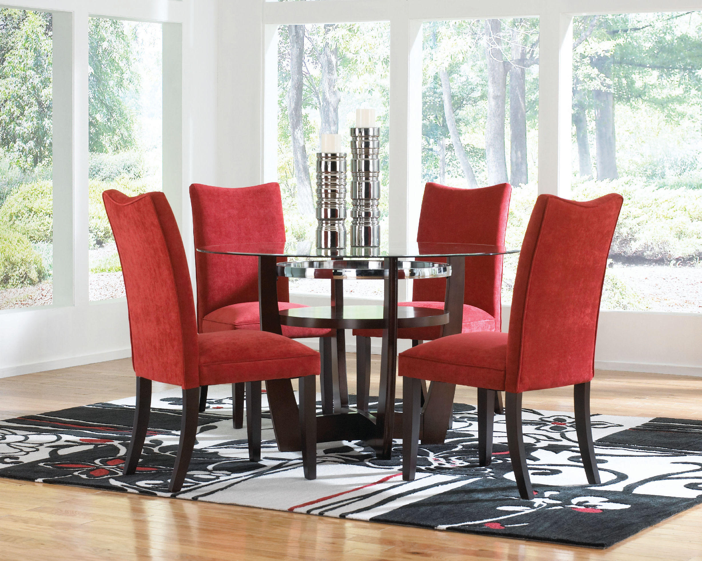 Parsons Chairs For Round Dining Room In Modern Style (Image 6 of 8)