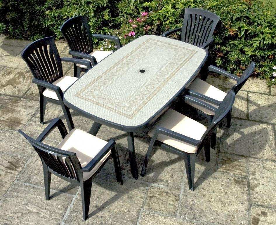 Plastic Patio Chairs And Table Furniture Set (View 5 of 5)