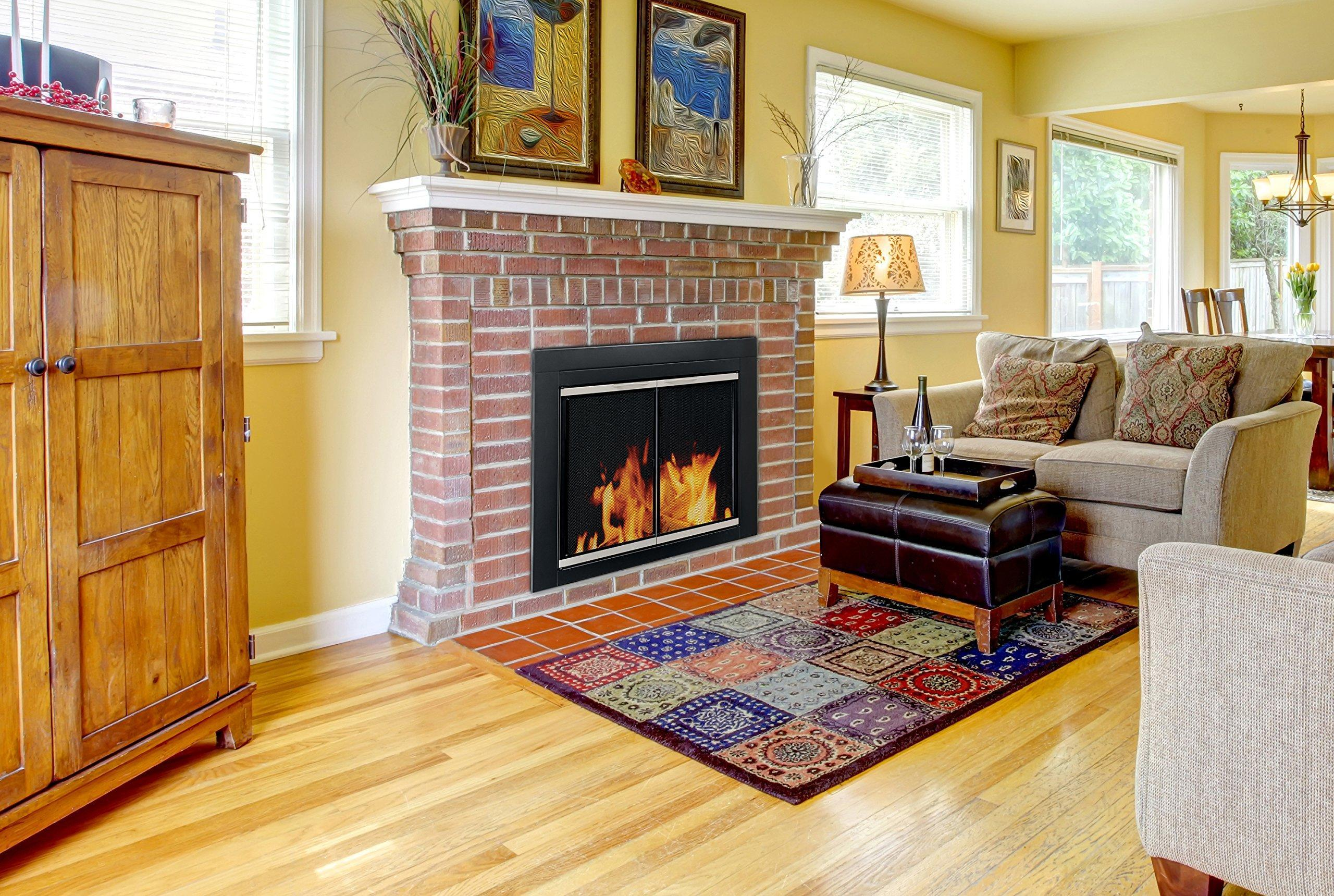 Simple Brick Fireplace Screen (Image 9 of 13)
