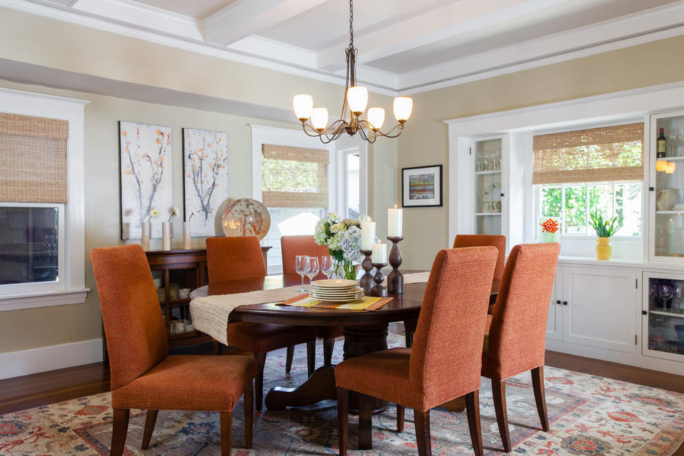 Traditional Dining Room With Parsons Chairs (View 6 of 8)