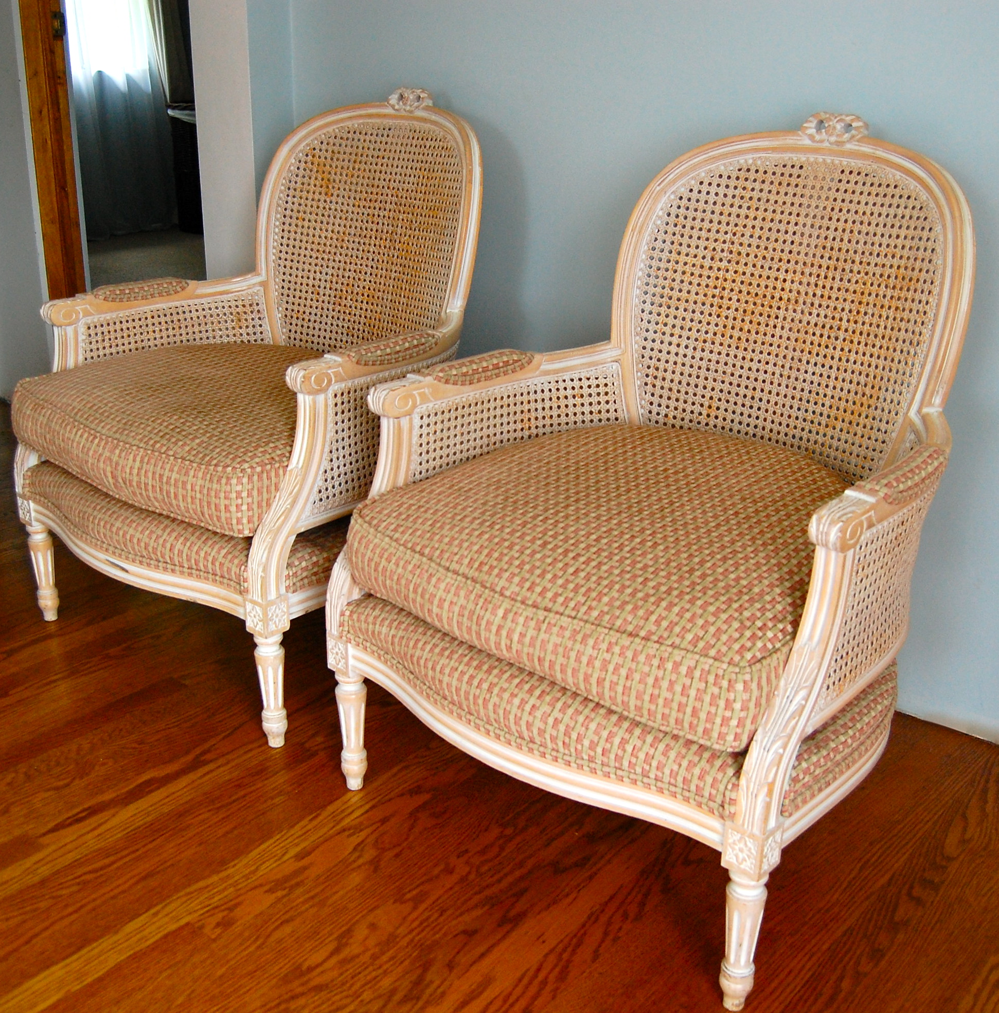 Bergere Chair Decor For Living Room (Image 2 of 7)