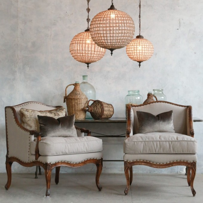 Classic Bergere Chair For Living Room (Image 5 of 7)