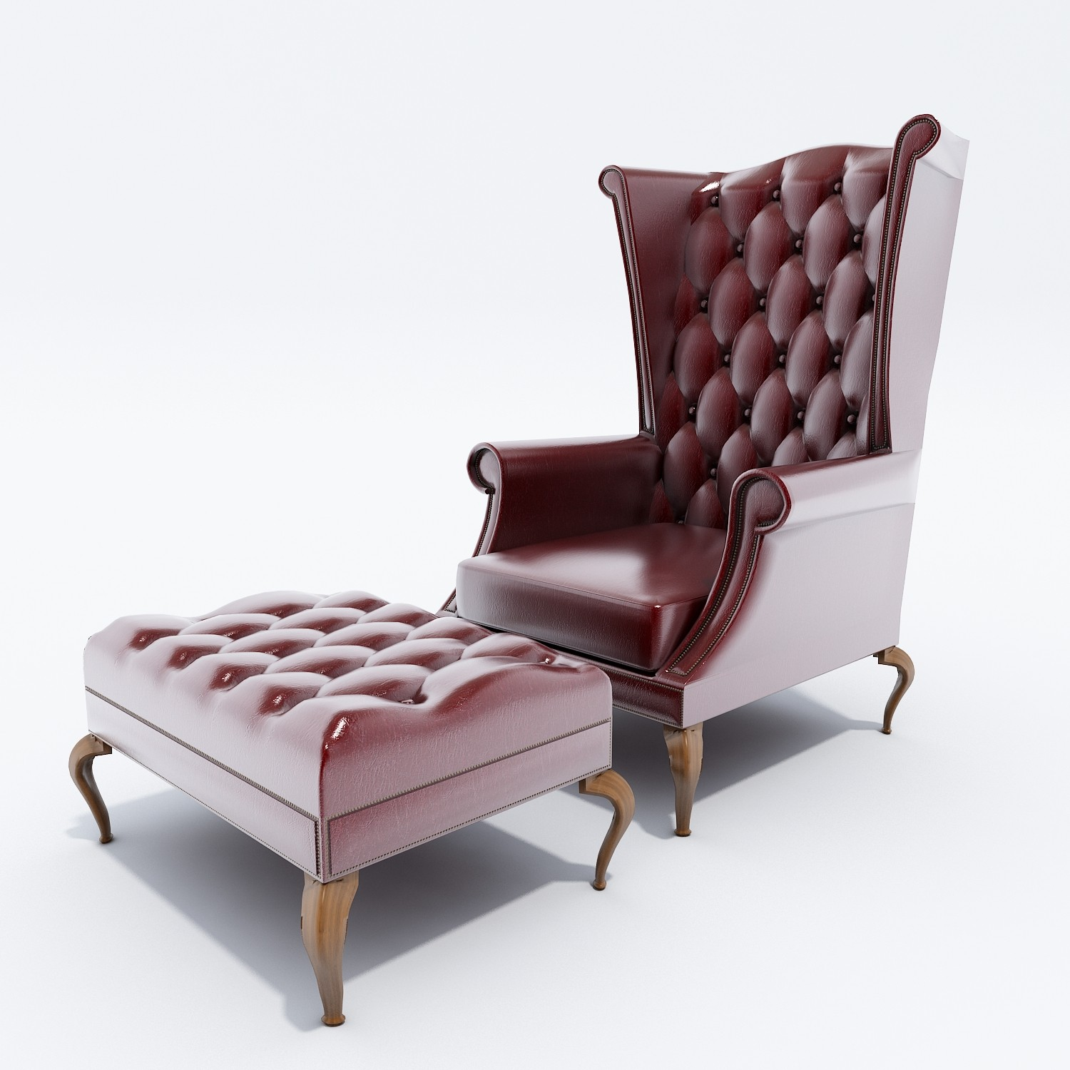 Luxury Queen Anne Chair (Image 7 of 11)