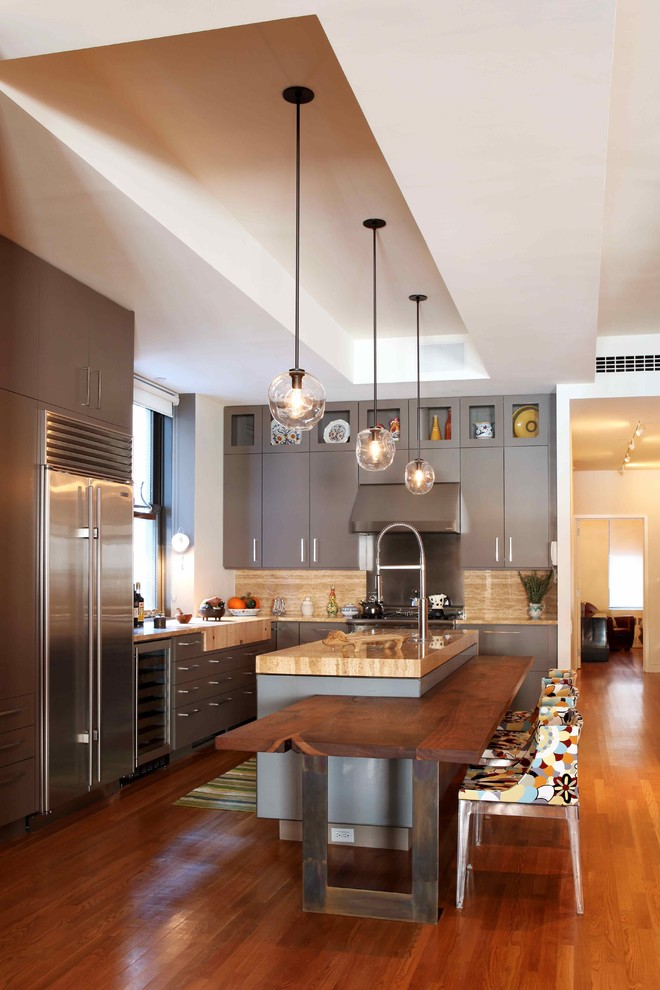 Contemporary Wooden Kitchen  (Image 4 of 12)