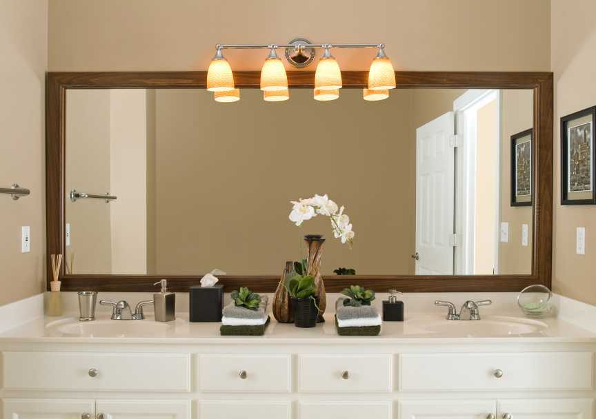 Featured Image of Big Bathroom Mirror For Double Sink Tuscan Bathroom