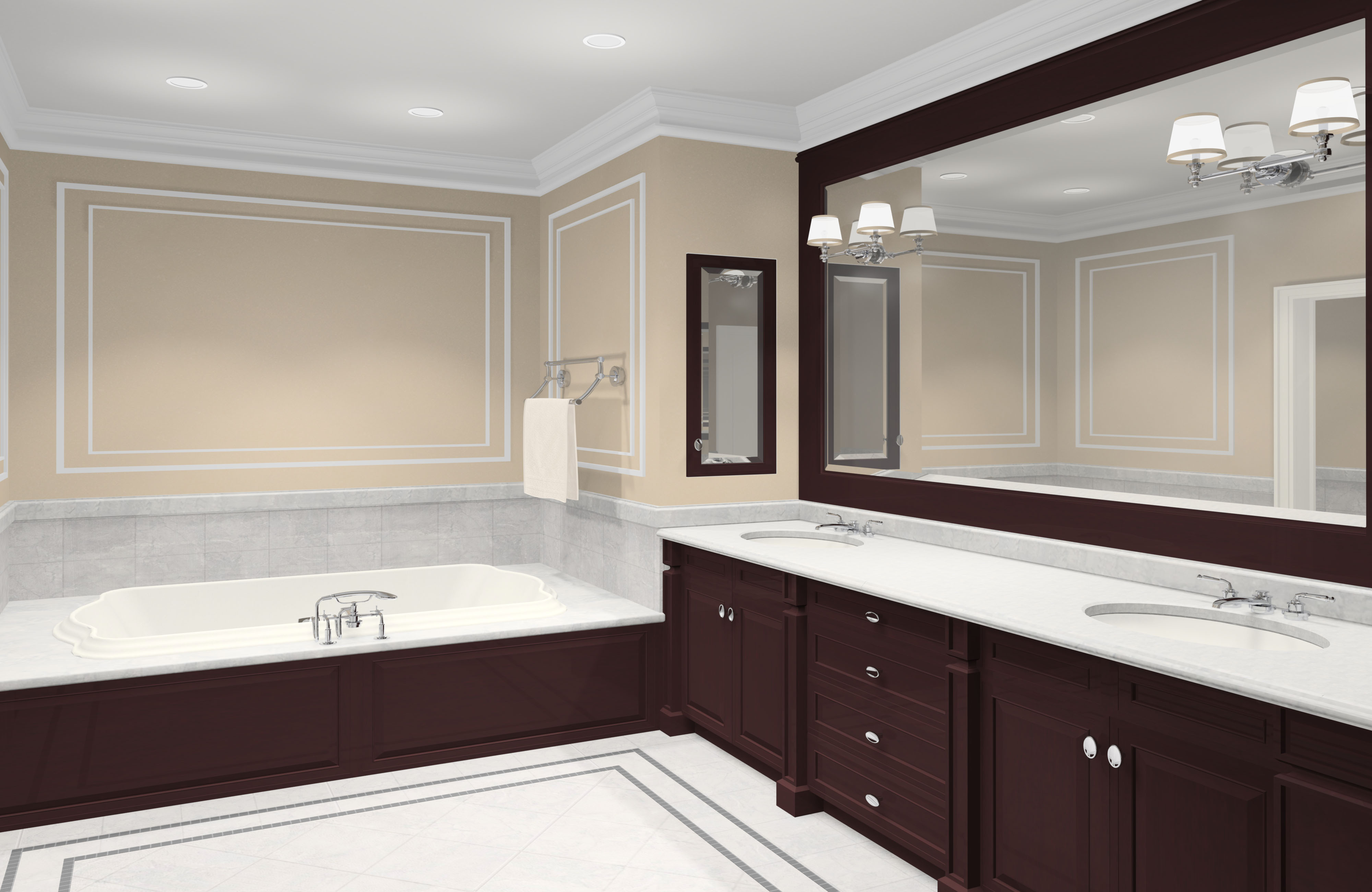 Featured Image of Big Vanity Mirror With Classic Lighting