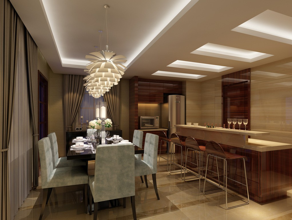 Featured Image of Bronze Dining Room Lighting For Luxury Interior