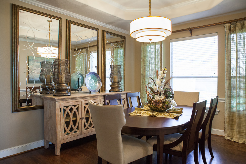 Attractive Dining Room Mirror Decorating Ideas Part - 9: Featured Image Of Classic Elegance Dining Room Buffet And Mirror