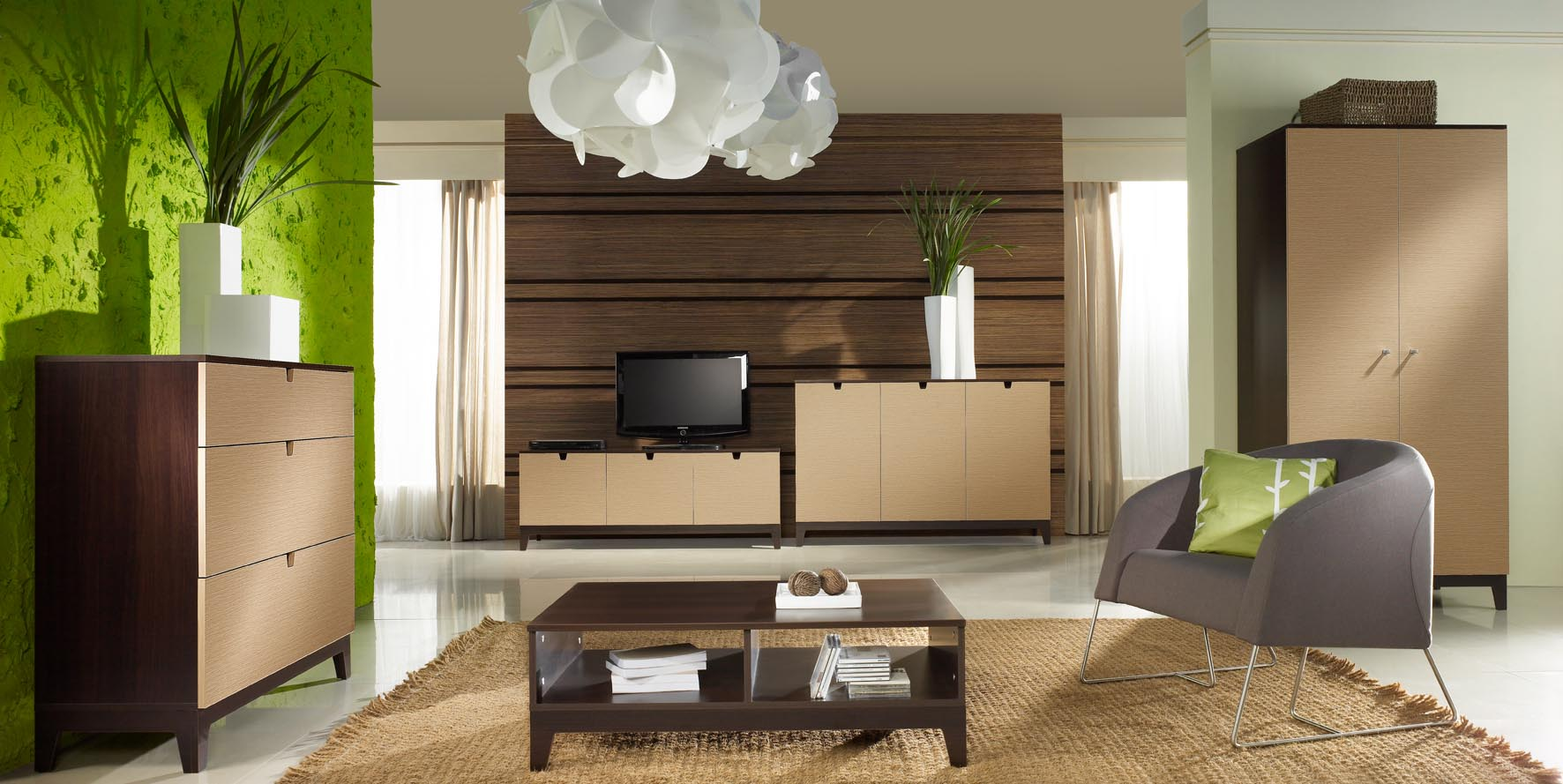 Featured Image of Contemporary Living Room Bookcases And Cabinet Furniture