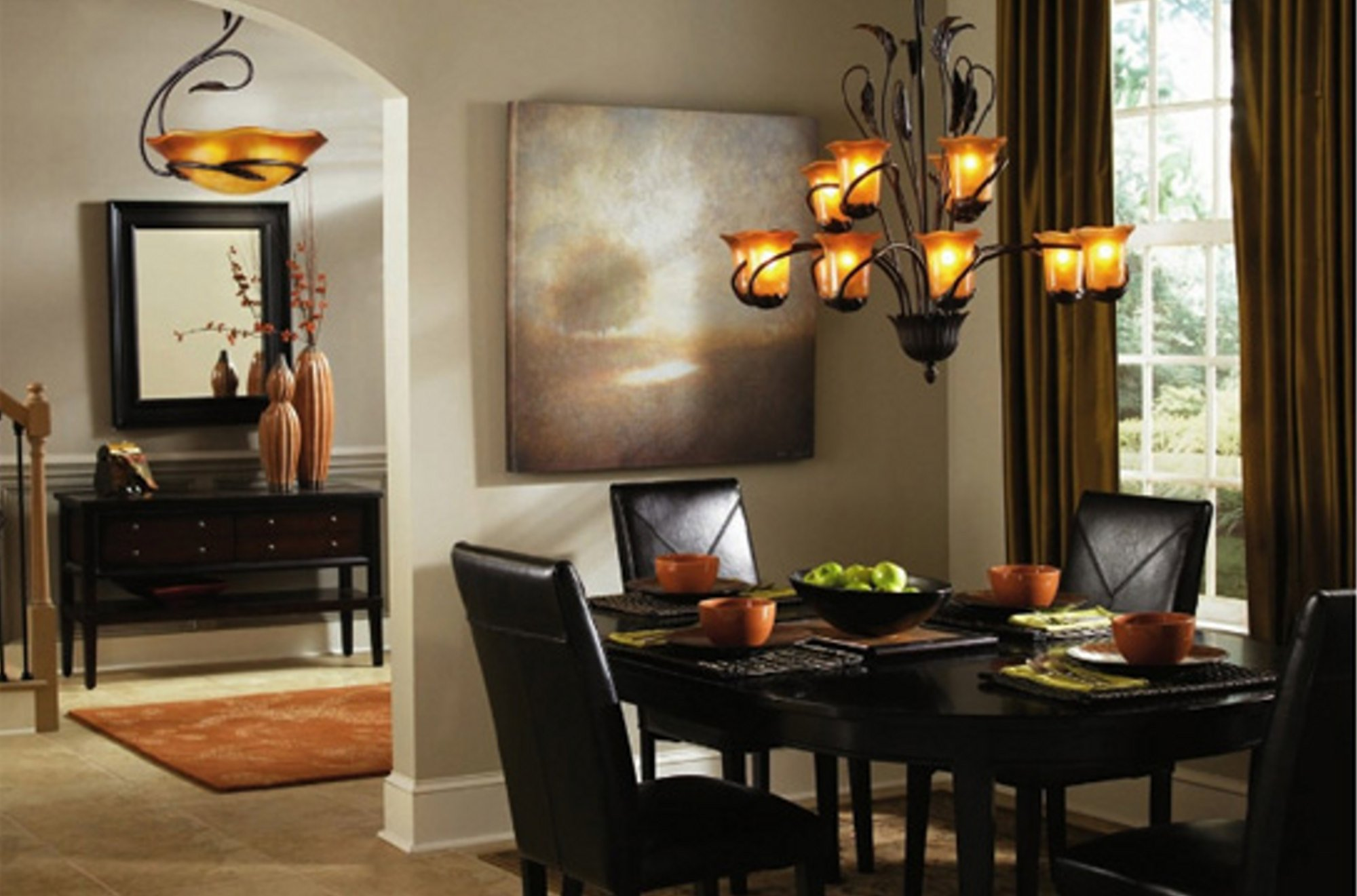 Featured Image of Dining Room Chandelier Lighting With Downlight