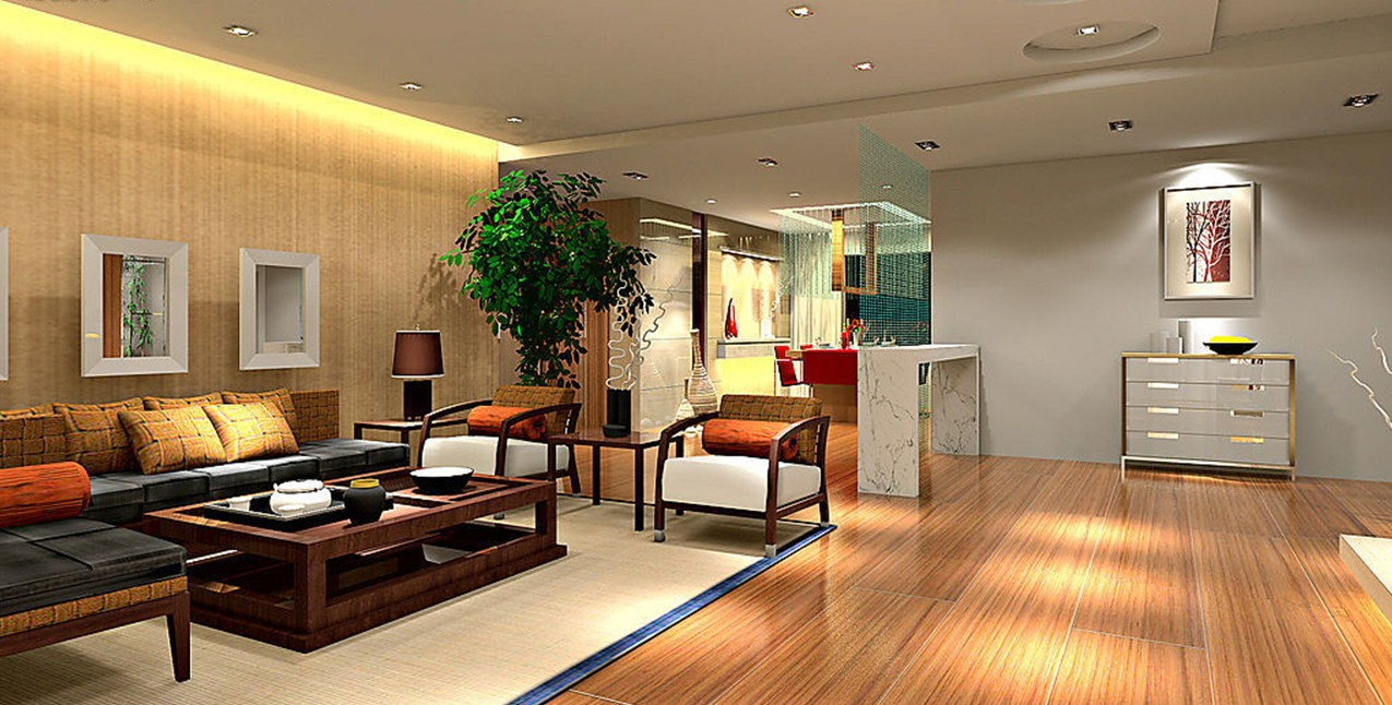 Featured Image of Stylish Wood Living Room Flooring Concept