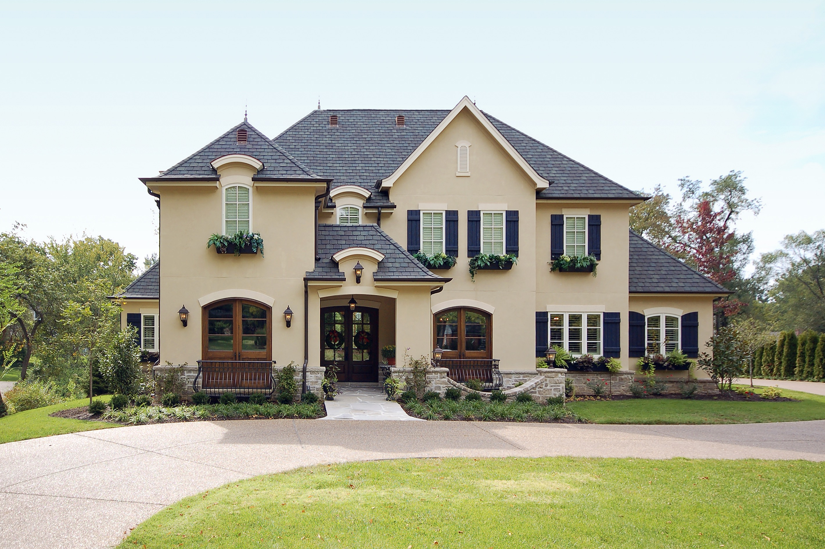 french country house exterior - Country Home Exterior