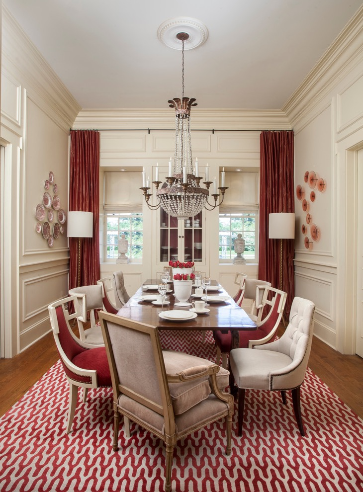 Casual Lux Formal Dining Room In Classic Design (Image 4 of 30)
