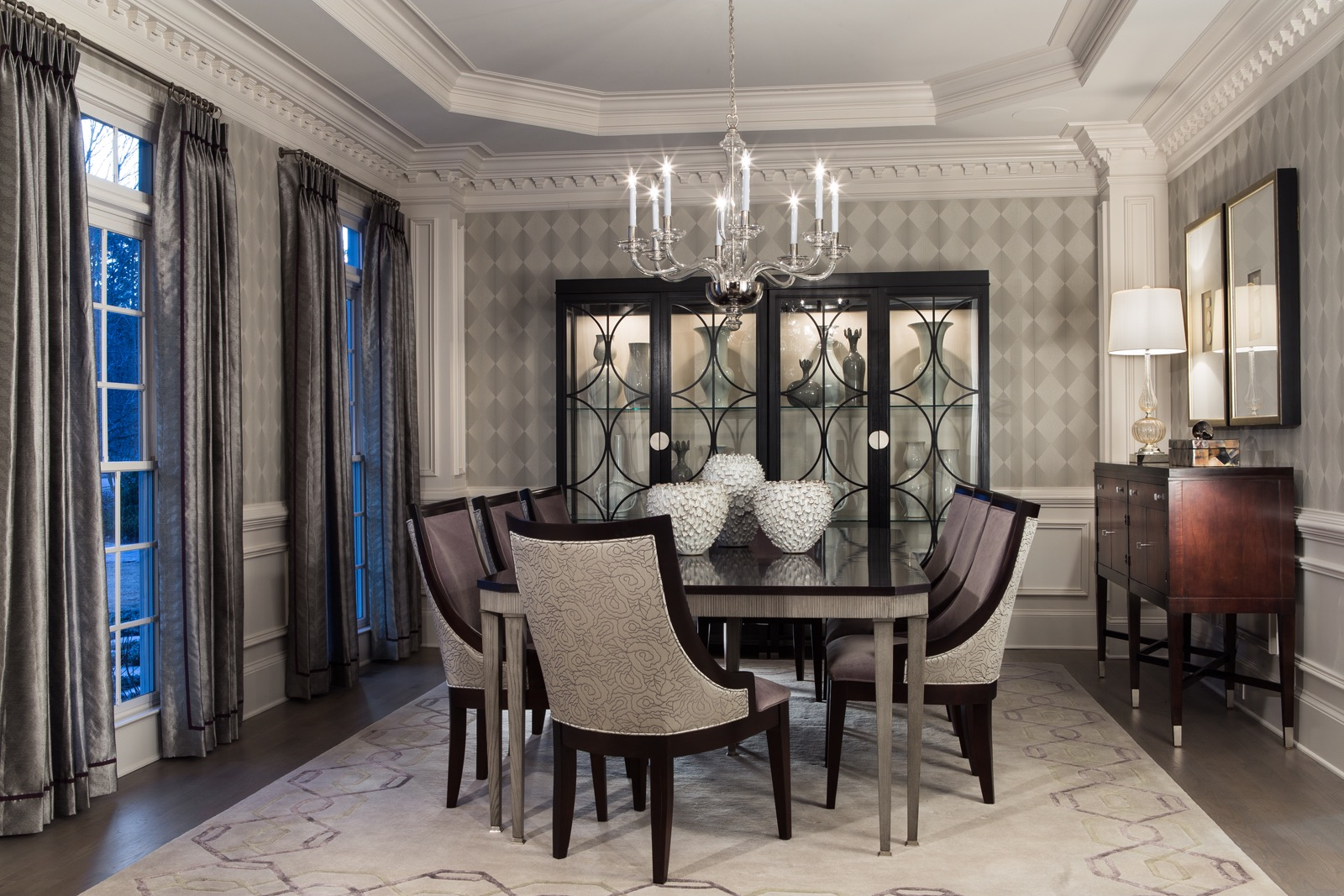 Formal Dining Room With Elegant Furnishings (View 20 of 30)