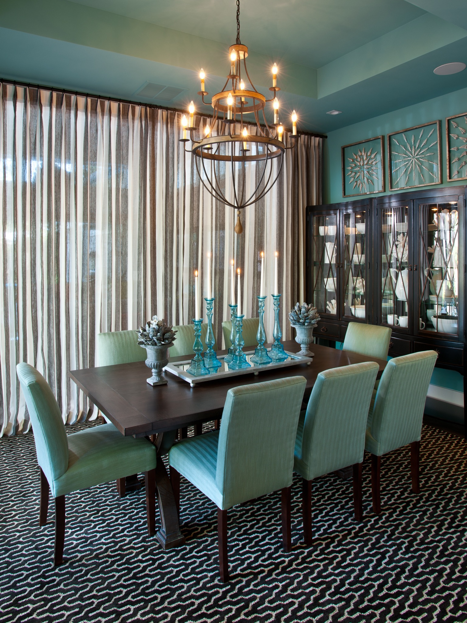 Modern Formal Apartment Dining Room (Image 24 of 30)