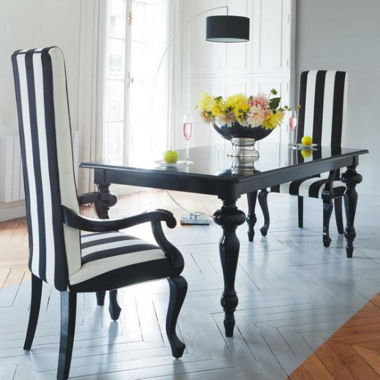 Featured Image of 2013 Black White Dining Room Inspiration Ideas