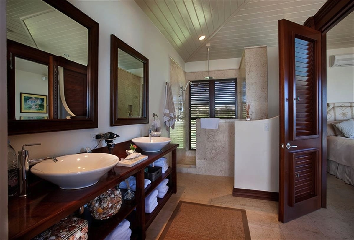 Featured Image of 2014 Contemporary Bathroom With Wooden Cabinet Furniture
