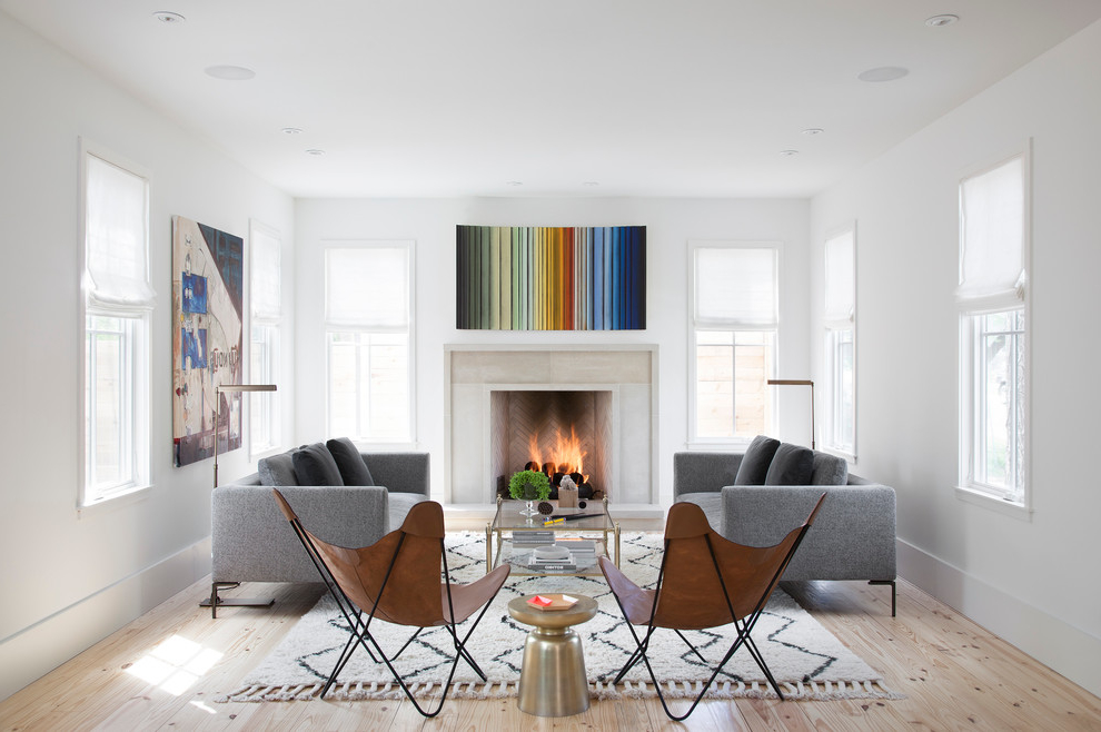 Featured Image of 2015 Minimalist Farmhouse Living Room With Fireplace